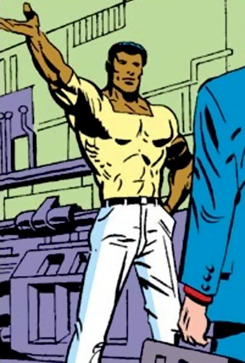 Curtis Carr (Marvel Comics) in his Stark lab