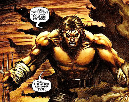 Dog Logan (Marvel Comics) bare-chested