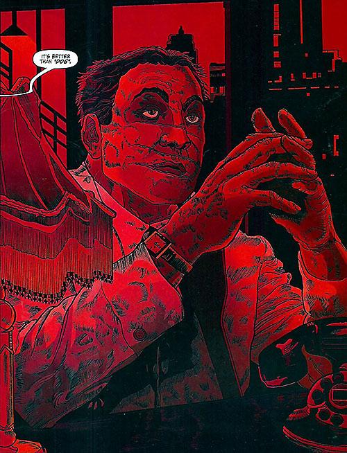 Dog Logan (Marvel Comics) red portrait