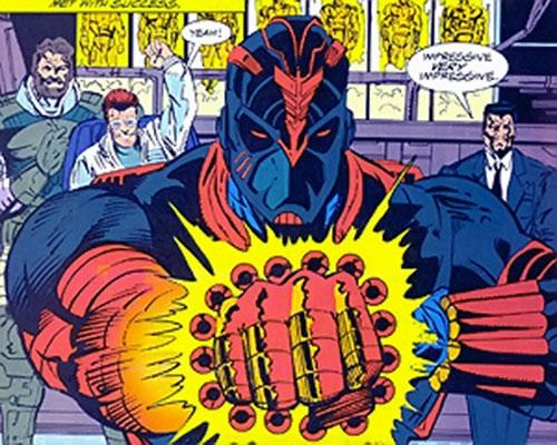 Cyber-Warriors (Silver Sable enemies) (Marvel Comics) closeup