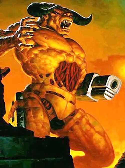 Cyberdemon in the Doom video game (cover art)
