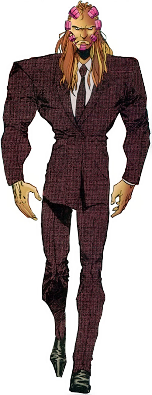 Cyberface (Savage Dragon comics) in a brown suit