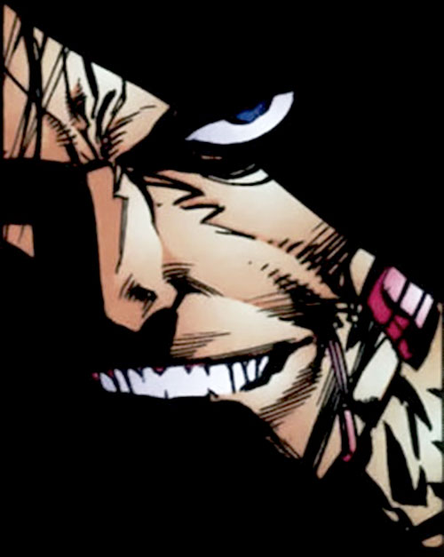 Cyberface (Savage Dragon comics) human face closeup