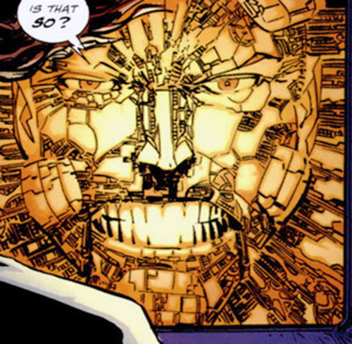 Cyberface (Savage Dragon comics) tech construct face closeup