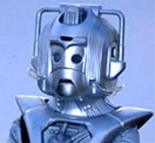 Cyberman helmet closeup (Doctor Who)