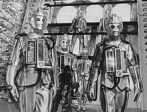 Group of Cybermen (Doctor Who) in old costumes