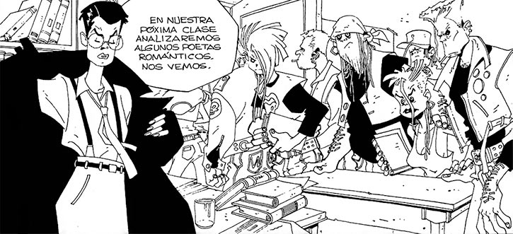 Cybersix - Cyber6 - Argentine comic book - classroom scene