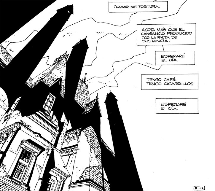 Cybersix - Cyber6 - Argentine comic book - Gothic house low angle