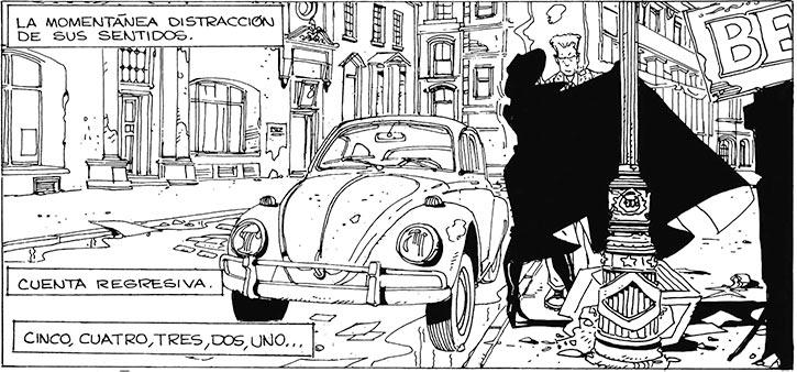 Cybersix - Cyber6 - Argentine comic book - Street scene
