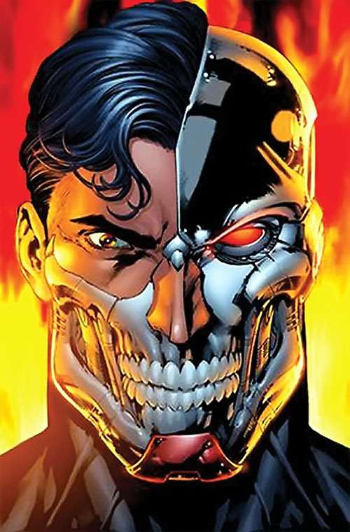 Cyborg Superman (DC Comics) face closeup