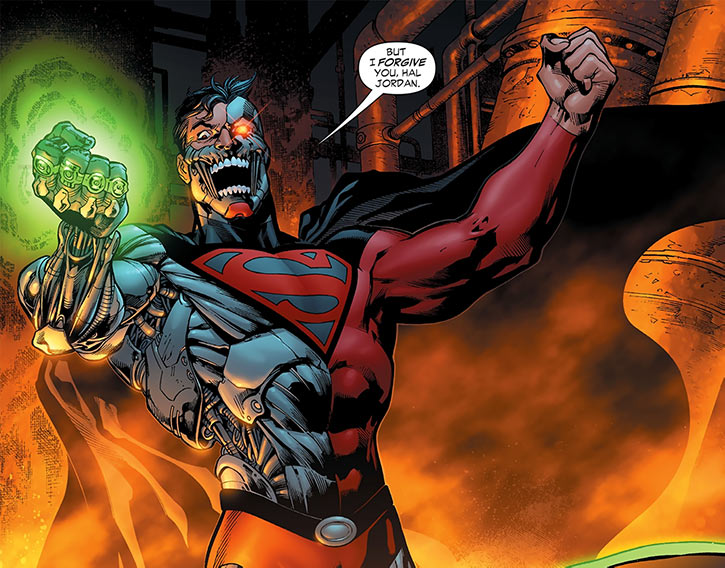 Cyborg Supernan (Hank Henshaw) with green power rings