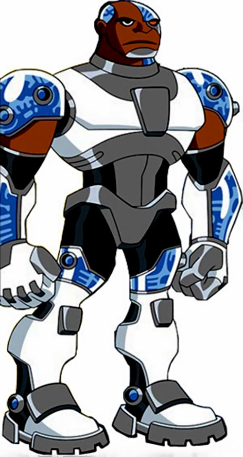 Cyborg of the Teen Titans (animated version)