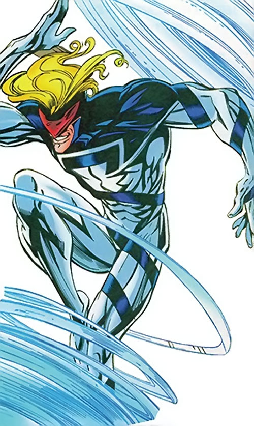 Cyclone (Thunderbolts enemy) (Marvel Comics) (Fresson) hovering