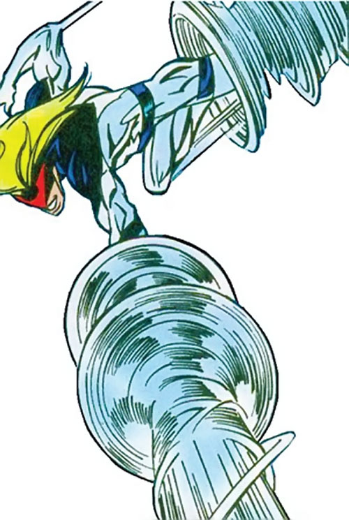 Cyclone (Thunderbolts enemy) (Marvel Comics) (Fresson) in combat