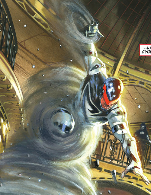 Cyclone (Thunderbolts enemy) (Marvel Comics) (Fresson) painted art
