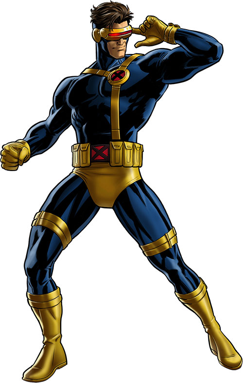 Cyclops of the X-Men - classic costume with chest strap and no cowl