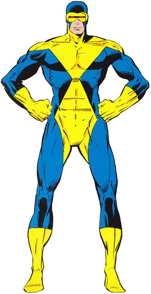 Cyclops of the X-Men - early X-Factor uniform