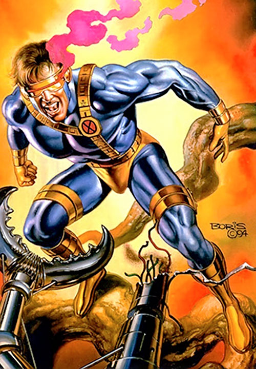 Cyclops of the X-Men, painting by Boris