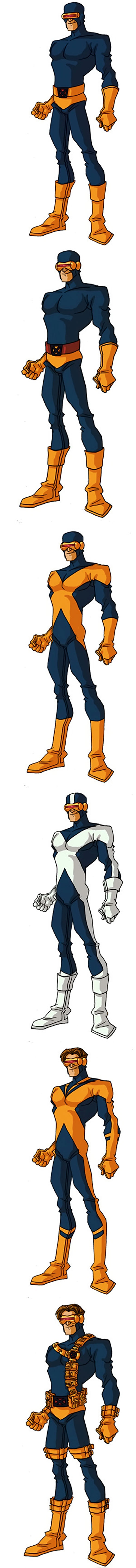 Classic costumes of Cyclops of the X-Men by RonnieThunderbolts