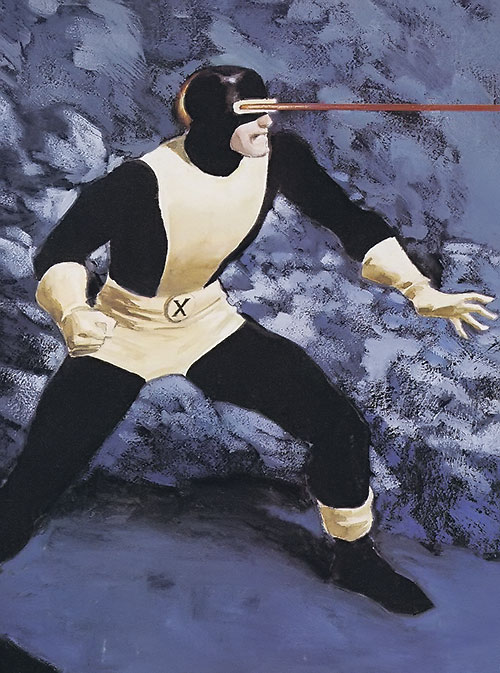 Early Cyclops of the X-Men - painted art