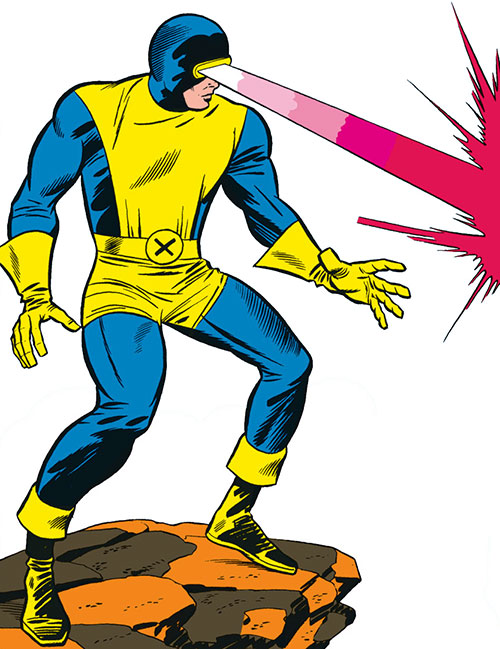 Early Cyclops of the X-Men - blasting