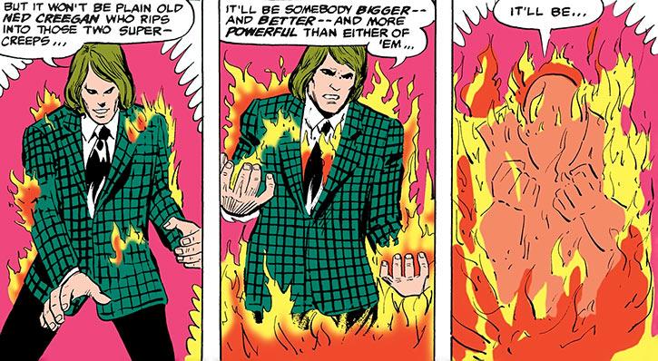 Ned Creegan turns into the Cyclotronic Man