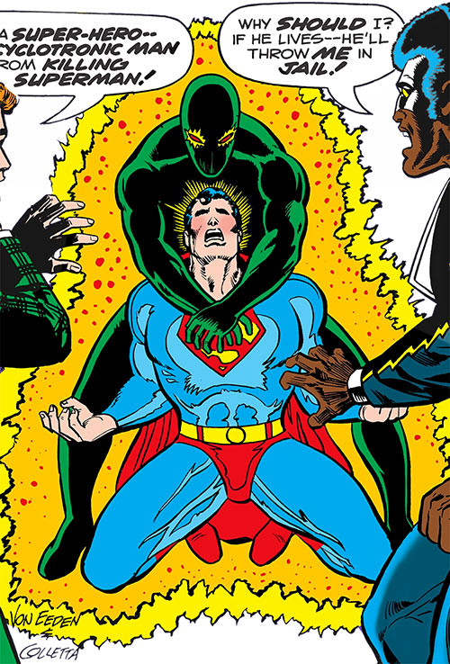 Cyclotronic Man (DC Comics) vs. Superman
