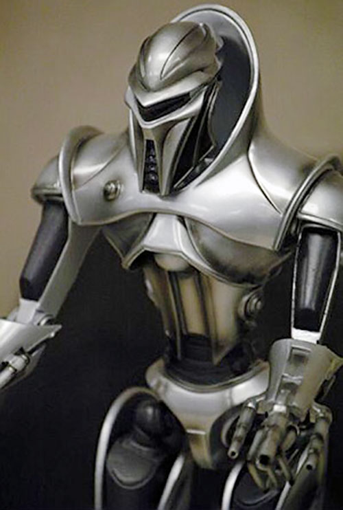 Cylon centurion in the rebooted Battlestar Galactica torso and head