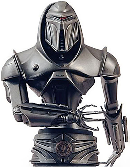 Cylon centurion in the rebooted Battlestar Galactica