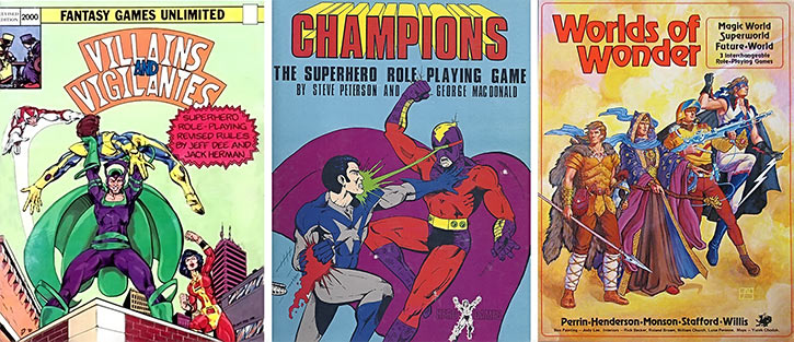 D&D for superheroes - Early superhero tabletop RPGs - History