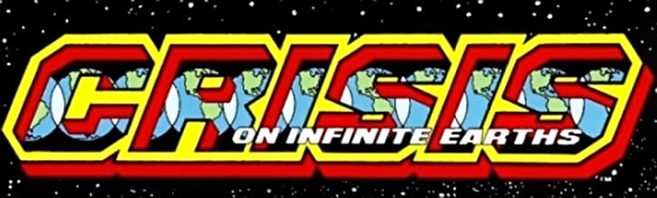 DC Comics logo Crisis on Infinite Earths