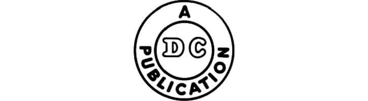 DC Comics logo during the Golden Age