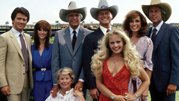 The main cast of the Dallas TV Series