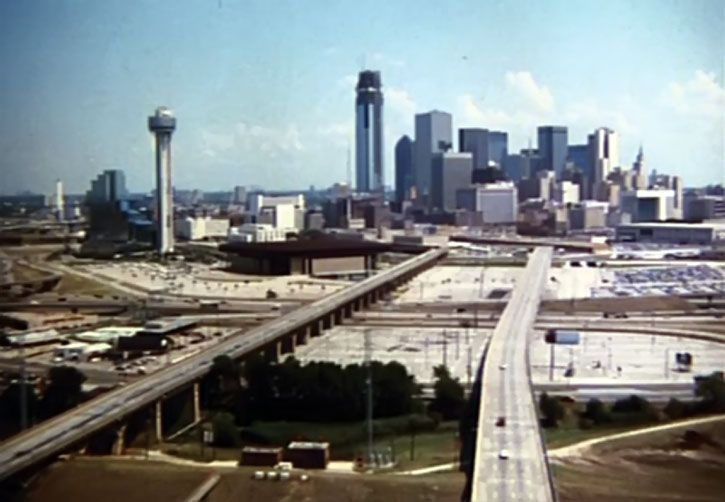 Dallas as it appears in the Dallas TV show opening credits
