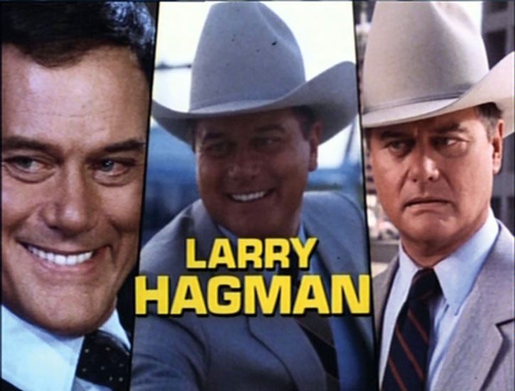 Larry Hagman as JR Ewing during the opening credits of Dallas