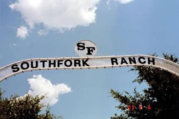 Southfork Ranch entrance sign in Dallas