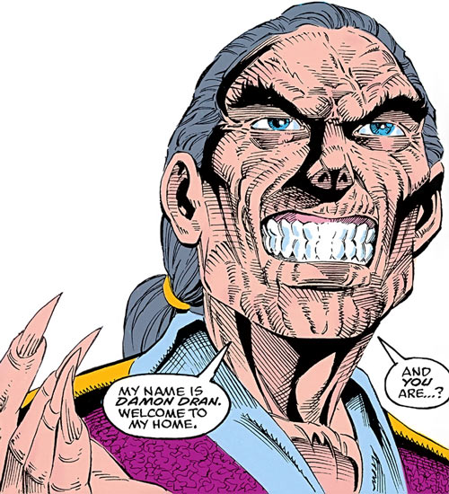 Damon Dran (Marvel Comics) wrinkled face closeup