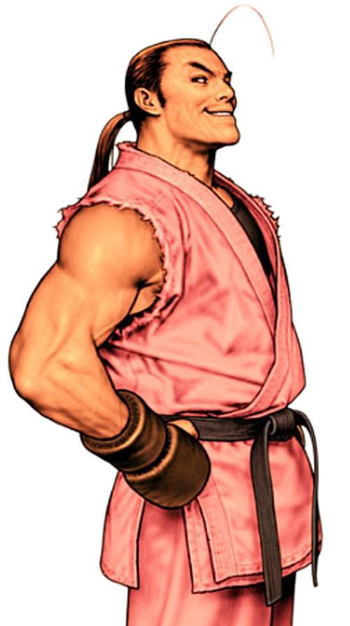 Dan Hibiki (Street Fighters) smiling smugly