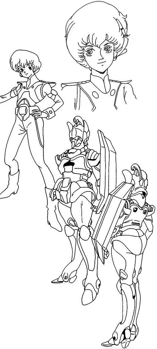 Dana Sterling (Robotech Southern Cross) model sheet