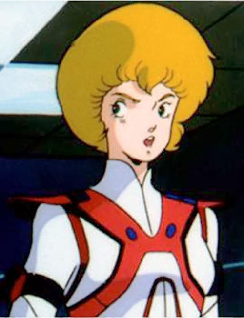 Dana Sterling (Robotech Southern Cross) looking serious