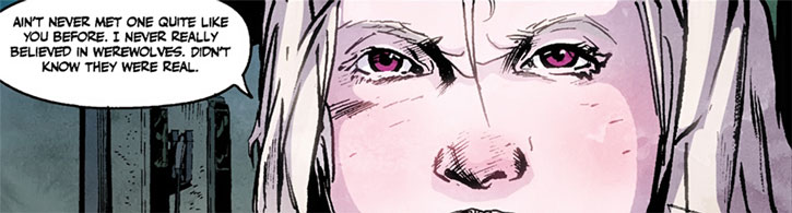 Dancy Flammarion eyes closeup