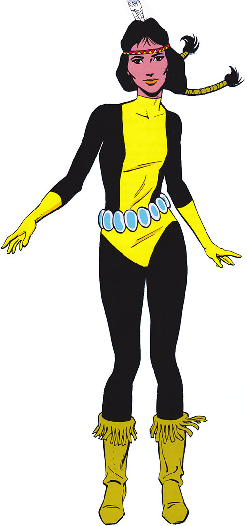 Danielle Moonstar aka Mirage of the New Mutants (Marvel Comics) from the 1985 official handbook