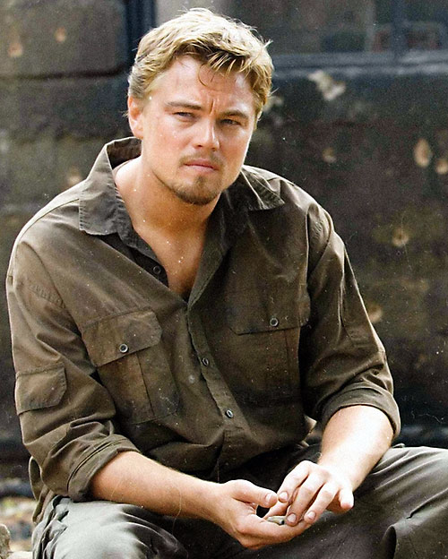 Danny Archer (Leonardo di Caprio in Blood Diamonds) sitting
