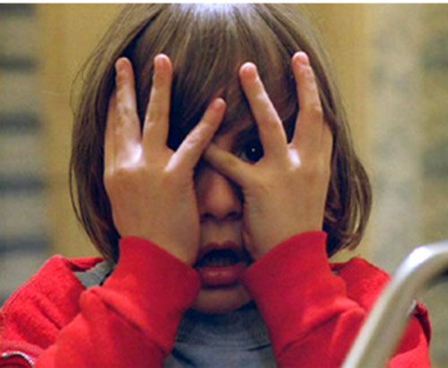 Danny Torrance (The Shining) hiding his face