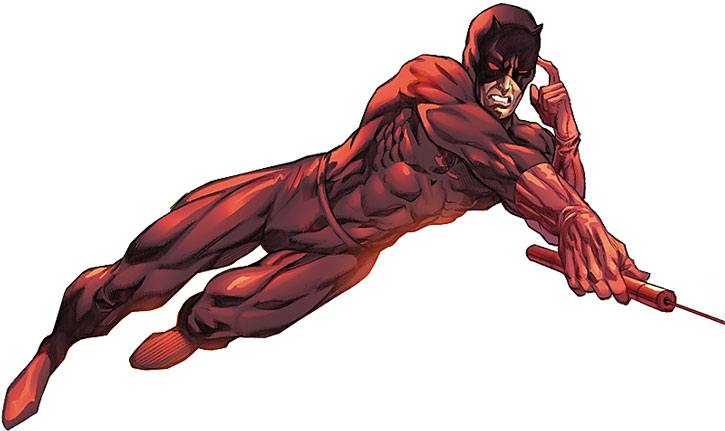 Daredevil by CrissCross, using his billy club