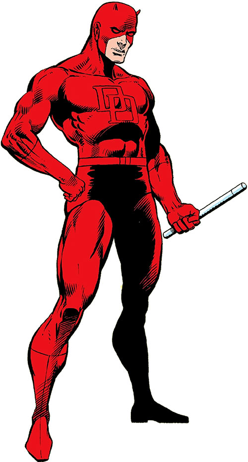 Daredevil (Marvel Comics) in the 1983 OHOTMU, Frank Miller art