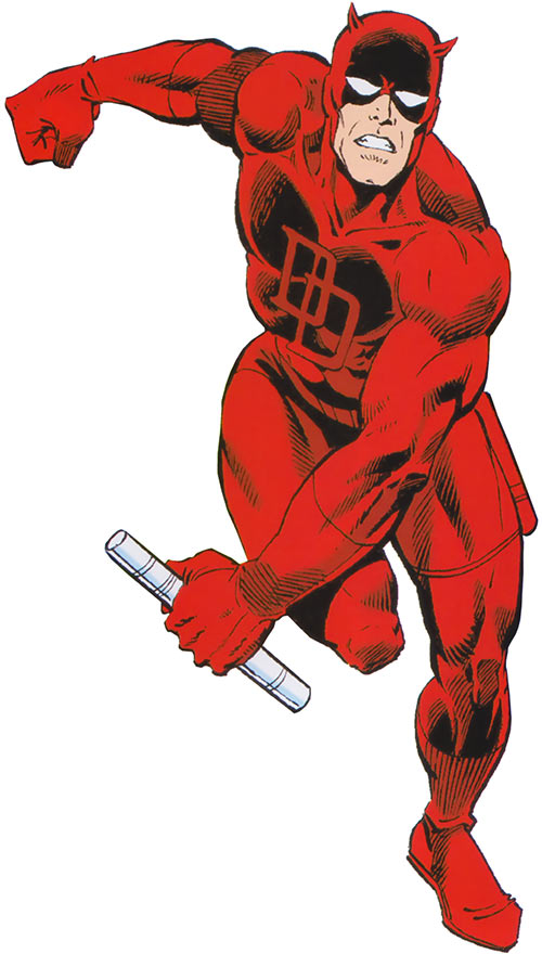 Daredevil (Marvel Comics) from the cover of the 1980s Deluxe handbook