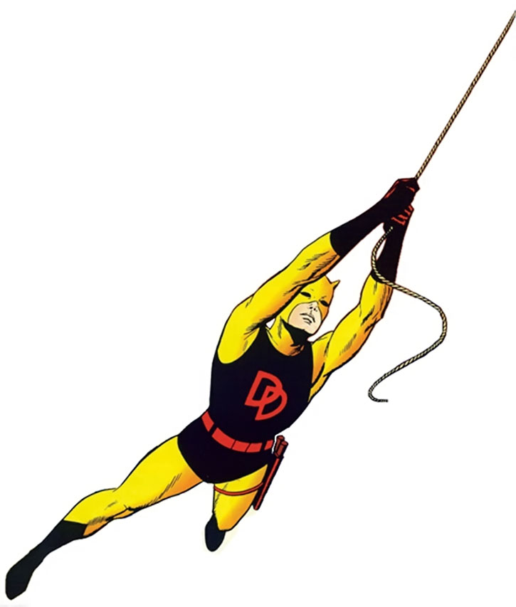 Vintage Daredevil in the yellow and black costume