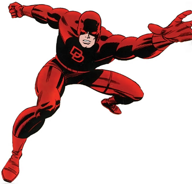 Daredevil in a dynamic Marvel pose
