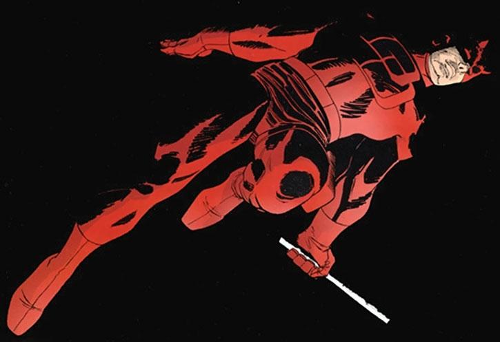 Daredevil over a black background